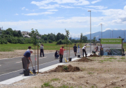 Bebauung und Erschließung Gewerbepark ŽIROVNICA