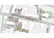 Arrangement of the RADLJE OB DRAVI town center