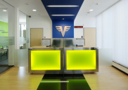 Corporate design concept and development of the VOLKSBANK branch office in Šentjernej