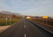 Straßen Verbindung der Ortschaften Hotemaže - Olševek ŠENČUR
