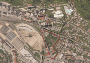 Landscape expert groundwork for arrangement of park areas in JESENICE