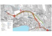Grundlagenermittlung, Raum- und Bebauungsplan der nördlichen Umgehungsstraße BLED