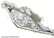 Urbanism concept design for the Center II area in JESENICE