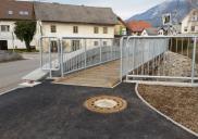 Fußgängerbrücke in ZAPUŽE der Gem. RADOVLJICA