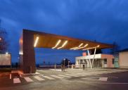 Entrance plateau and porter for the pharmaceutical company LEK (SANDOZ NOVARTIS group) at the Mengeš production site