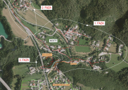 Sewage system network in MOSTE near Žirovnica