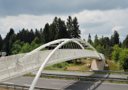 Pedestrian and bicycle bridge over the A2 highway at the KRANJ-vzhod exit