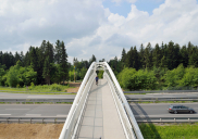 Most za pešce in kolesarje čez avtocesto A2 pri izvozu KRANJ-vzhod