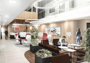 Renovation of the SPARKASSE branch office including café