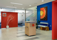 Corporate design concept for SPARKASSE branch offices in Slovenia