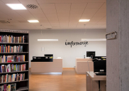 Concept and detailed design of the reception desk at the KRANJ CITY LIBRARY