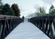Brücke über Cerkniščica und Ufergestaltung in Cerknica