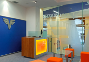 Corporate design concept and development of the VOLKSBANK branch office in Ljubljana