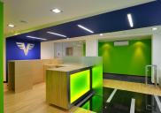 Corporate design concept and development of the VOLKSBANK branch office in Kranj