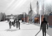 Arrangement of public areas in the KRANJ town center