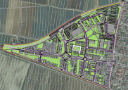Municipal urban plan for a residential and business district in ŽALEC