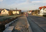 Gehwege in den Orten Milje und Visoko ŠENČUR