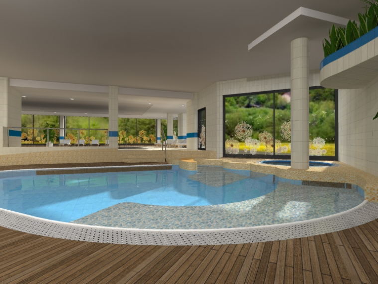 Swimming pool restoration at the LEK HOTEL in Kranjska Gora -