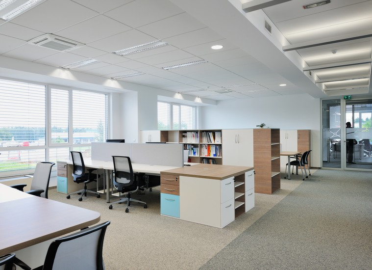 Layout and interior design as well as office equipment for TINEX -