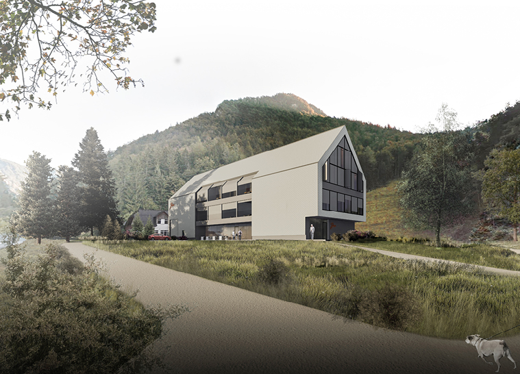 JULIANA Hotel and Spring Water Bottling Station near the Ljubelj Pass  -