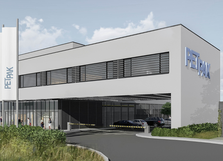 PET PAK manufacturing-warehouse-administrative building in Postojna -