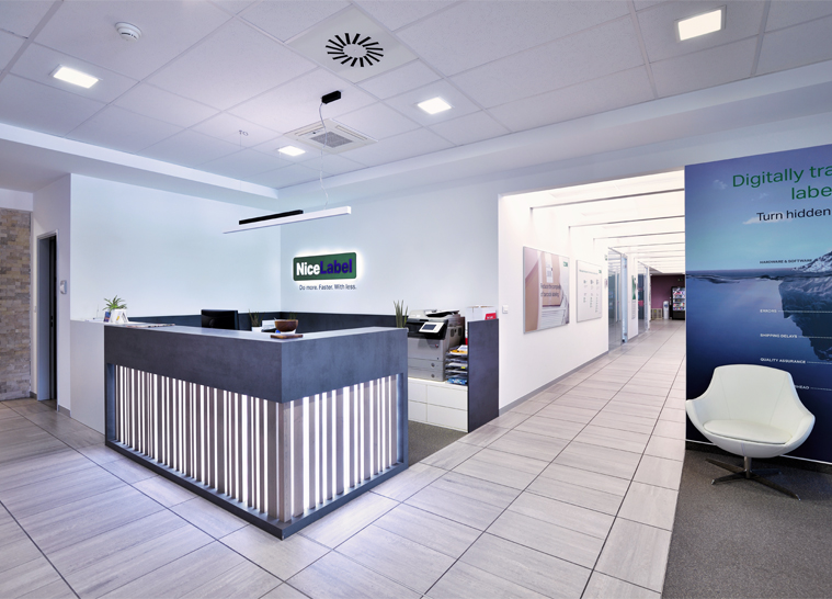 Renovation and expansion of NiceLabel / EURO PLUS office space -